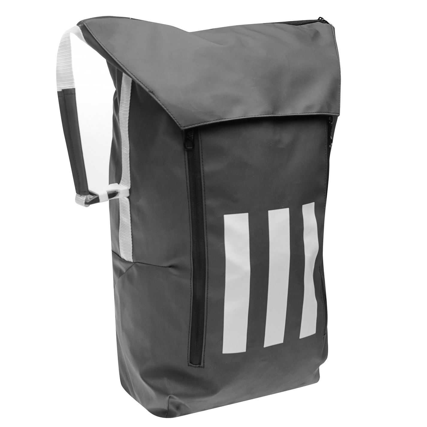 5ea1167f6 ... adidas Athletic ID Backpack Black/White Sports Gym Bag Rucksack  Carryall ...