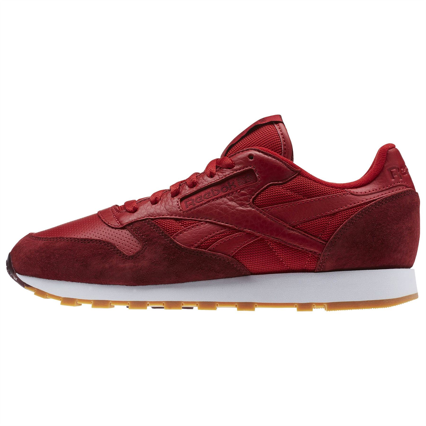 58632481fa9 ... Reebok Classic Leather Perfect Split Trainers Mens Red Footwear Shoes  Sneakers ...