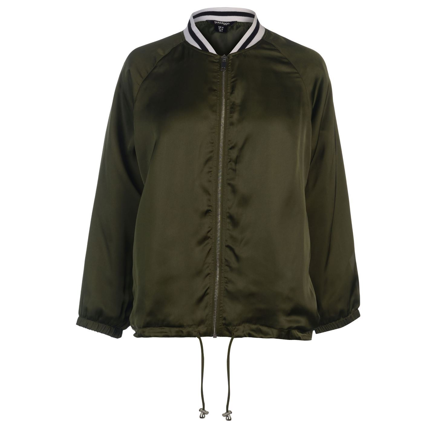 Golddigga-Bomber-Jacket-Womens-Coats-Outerwear thumbnail 3