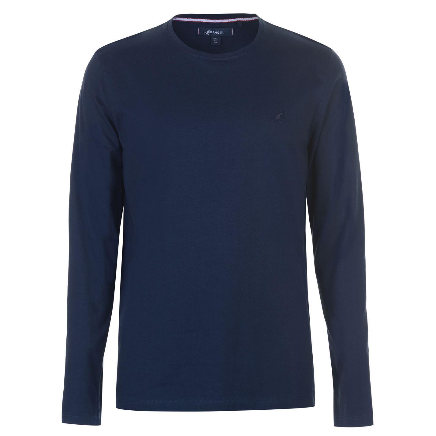 Kangol-Long-Sleeve-T-Shirt-Mens-Tee-Shirt-Top thumbnail 4