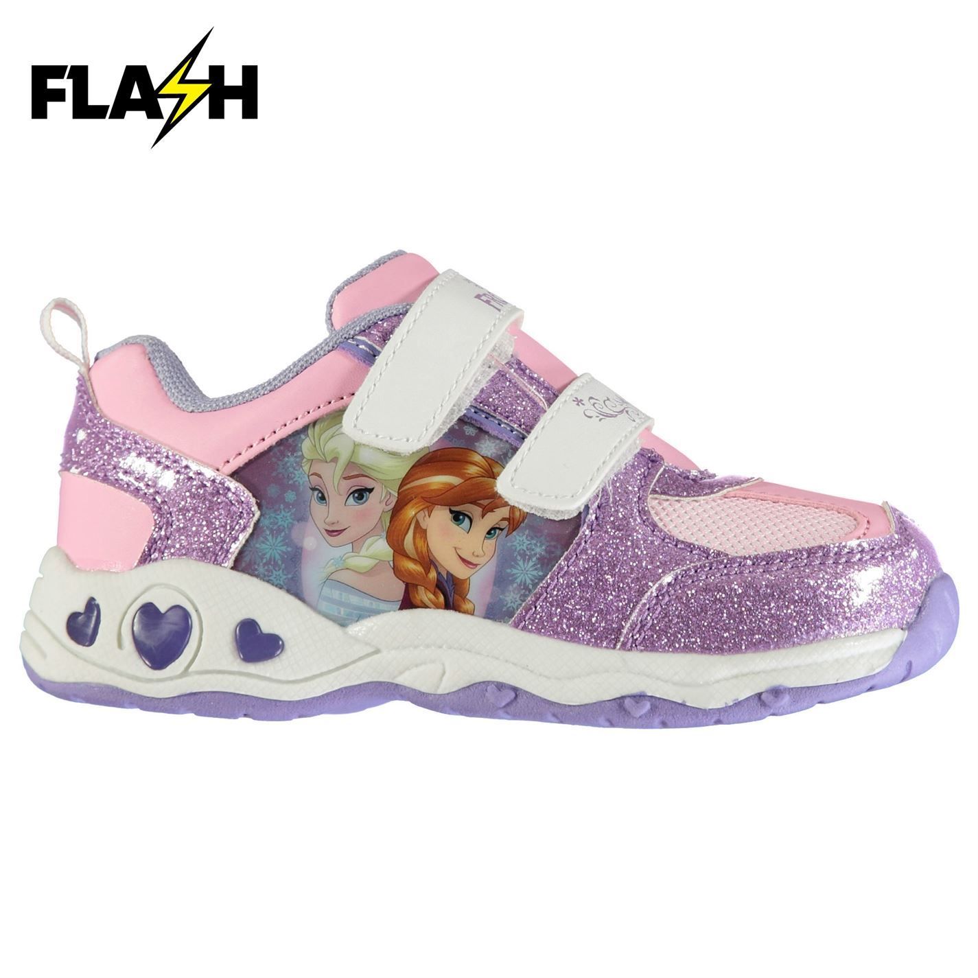 Light Up Infants Trainers Girls Shoes