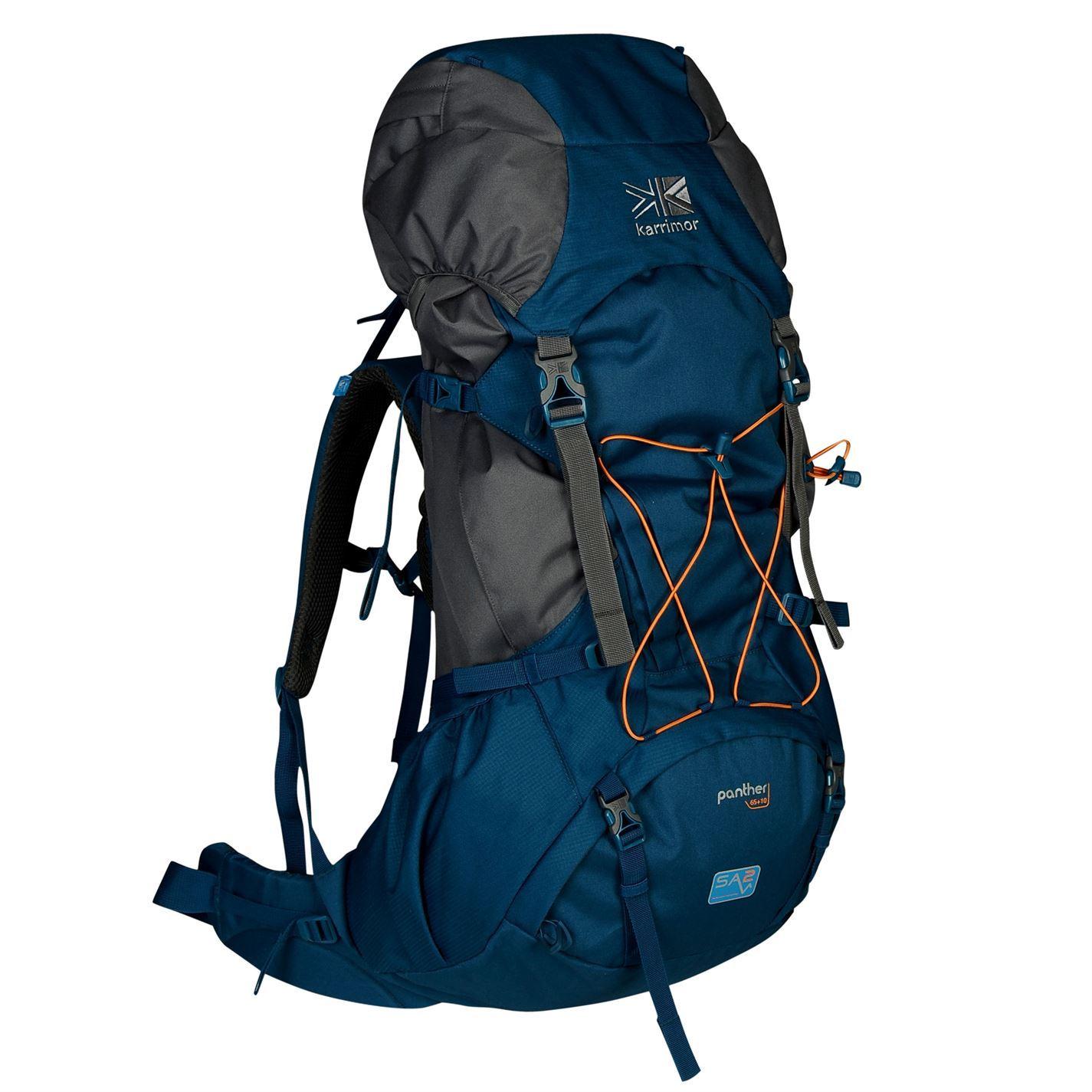 e3f8cef765 Karrimor Panther 65 Litre Rucksack Blu Gr Outdoors Bag Backpack Knapsack  Holdall