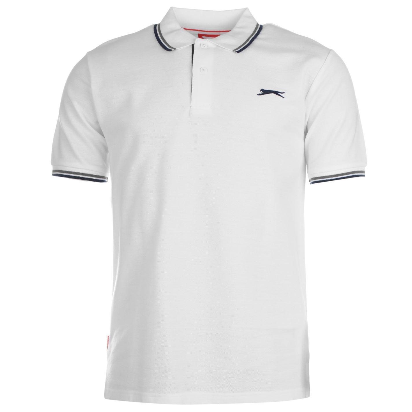 Slazenger-Polo-Camisa-de-hombre-con-cuello-con-Punta-T-Shirt-Top-Camiseta-Tee miniatura 80