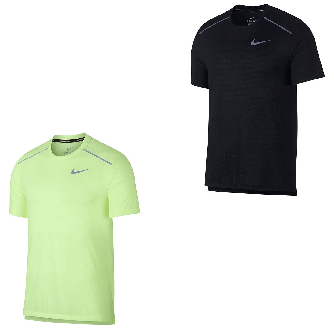 Details about Nike Running Breathe Rise 365 Dri Fit T Shirt Mens Fitness Top Tee Black Small