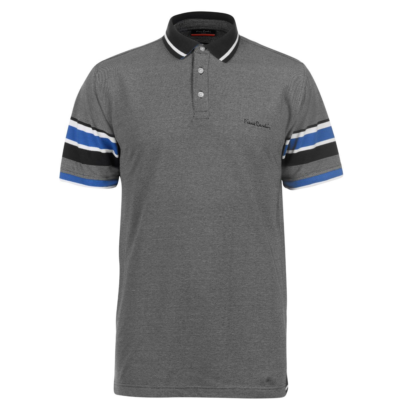 Pierre Cardin Yarn Dye Tipped Polo Shirt Mens Top Tee Casual T Shirt