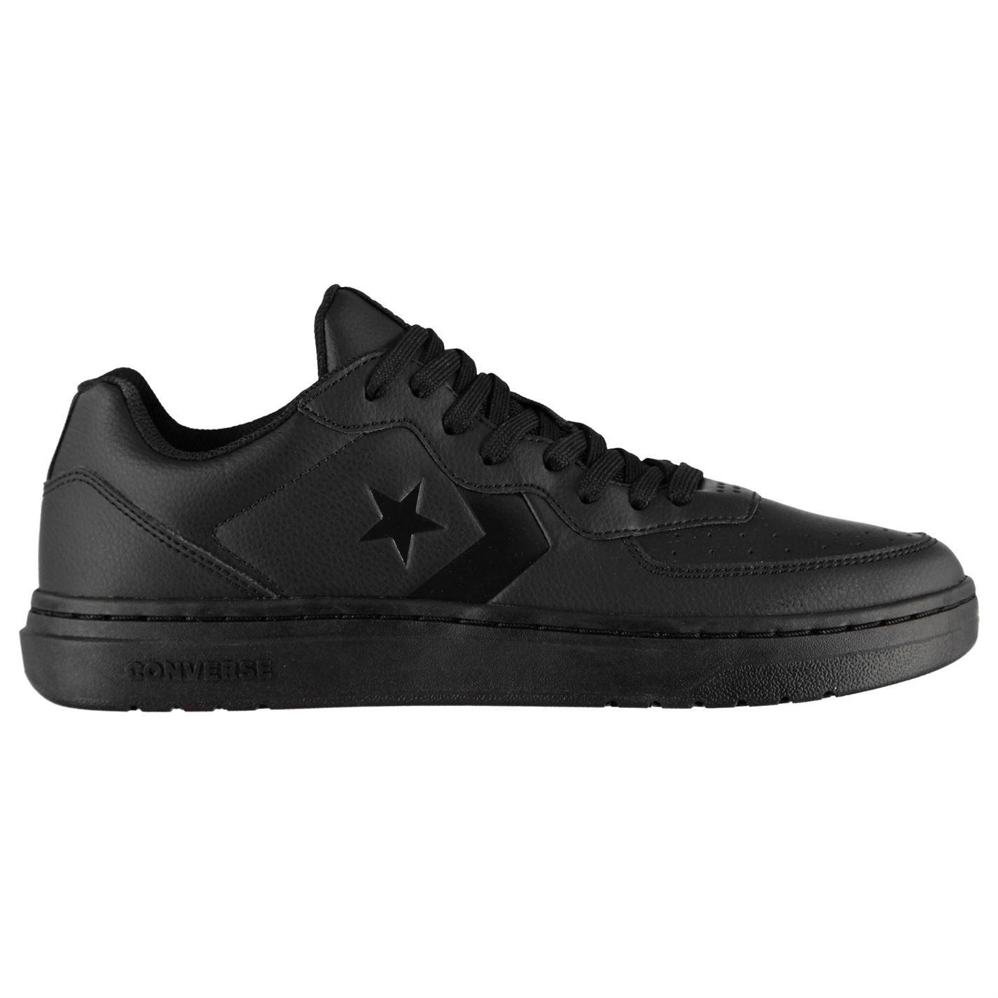 Converse-Ox-Rival-Cuir-Baskets-Pour-Homme-Chaussures-De-Loisirs-Chaussures-Baskets miniature 4