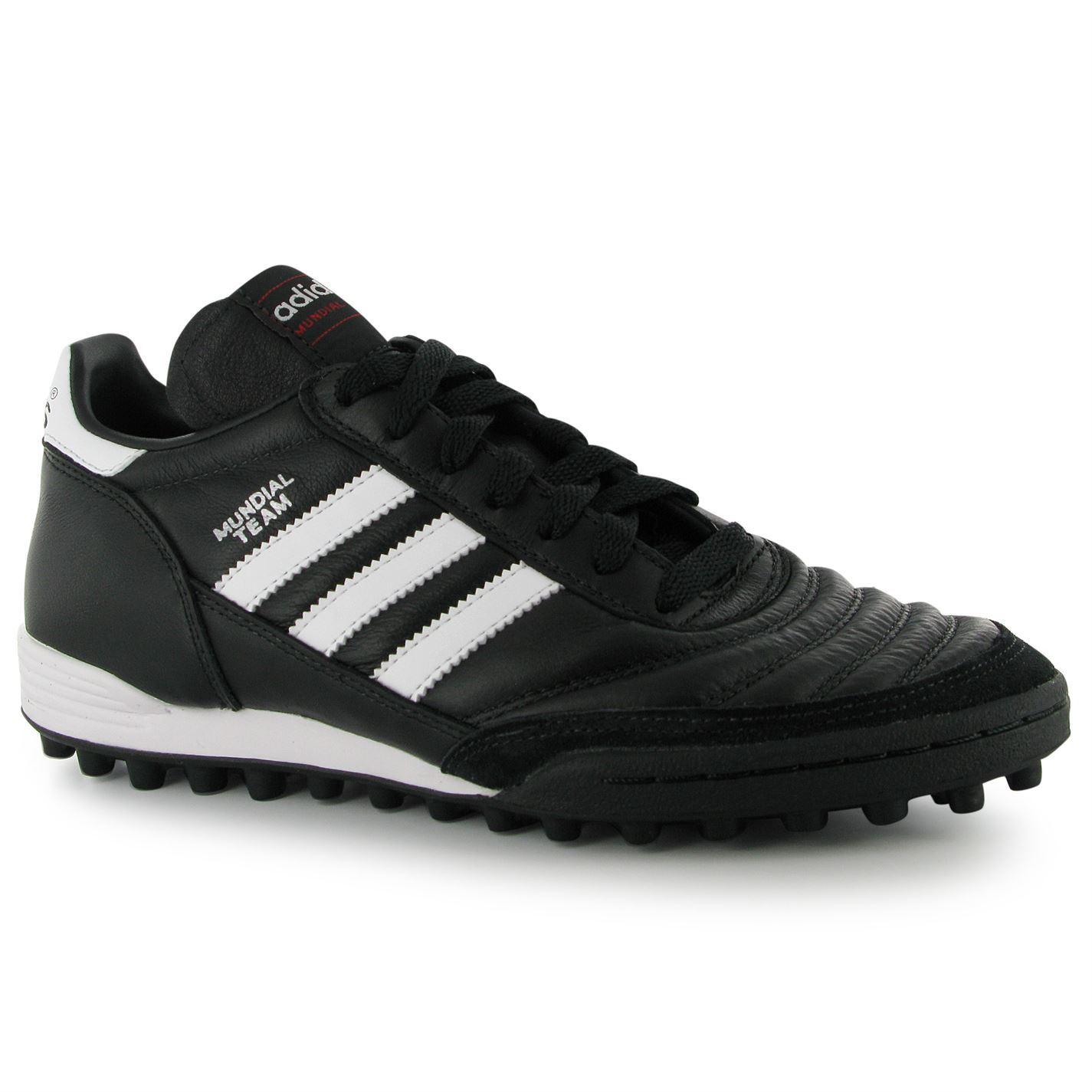 buy online fe6fa 322b2 ... Adidas Mundial Team Mens Astro Turf Trainer Blk Wht Football Soccer  Boots ...