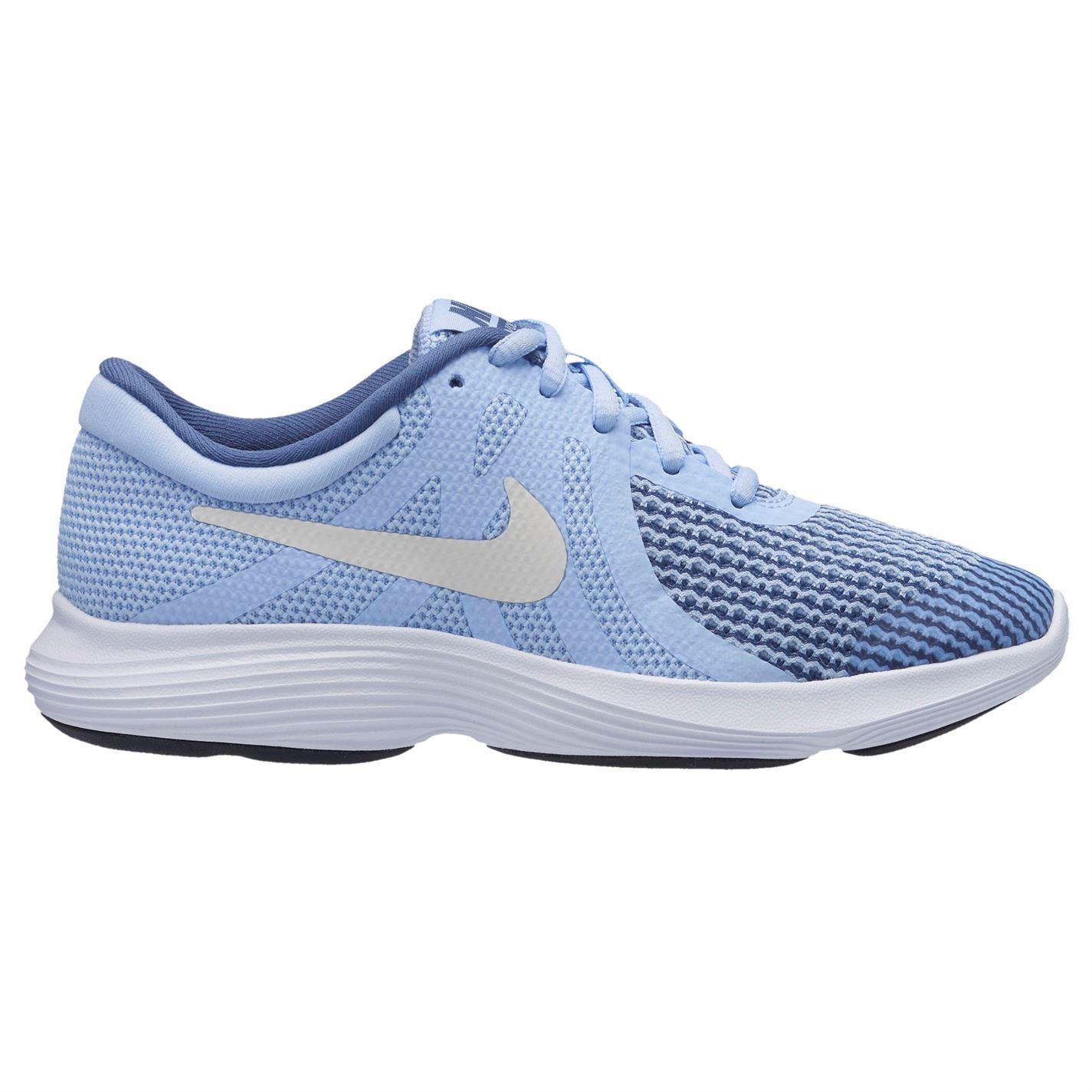 f6f66422e4dfc ... Nike Revolution 4 Trainers Junior Girls Blue White Shoes Footwear ...
