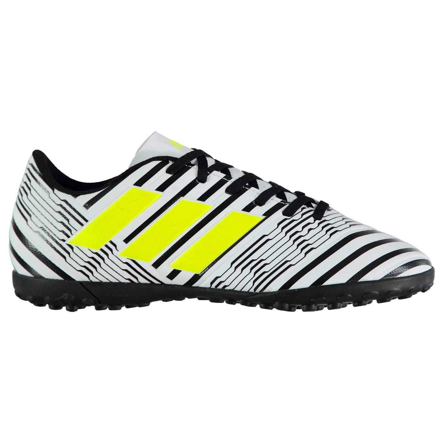 ... adidas Nemeziz 17.4 Astro Artificial Grass Trainers Juniors Wht/Yel  Soccer Shoes ...