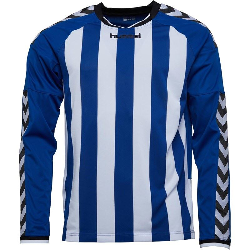 thumbnail 12 - Hummel-Long-Sleeve-Football-Shirt-Mens-Soccer-Jersey-Top-T-Shirt