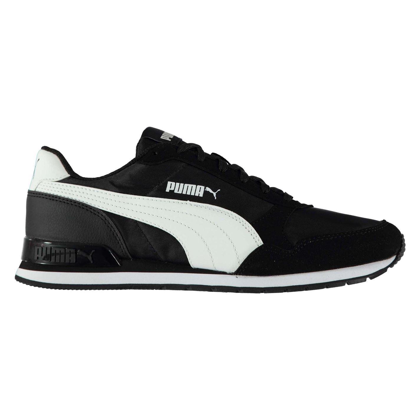 Puma ST Runner Scarpe da ginnastica in pelle di nabuk Uomo Nero/Bianco Scarpe Sportive Scarpe Da Ginnastica
