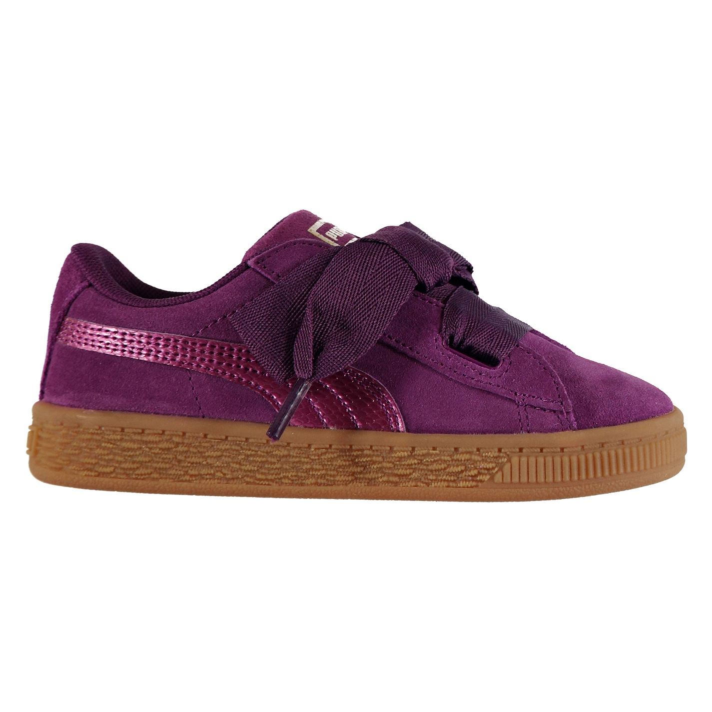 fab7acc794a ... Puma Suede coeur formateurs filles chaussures chaussures