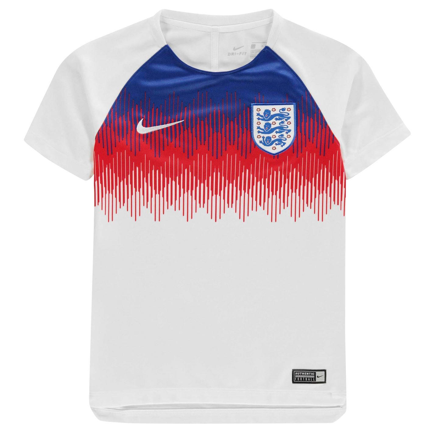 56063b4aa ... Nike England Pre Match Jersey FIFA World Cup 2018 Juniors White  Football Soccer ...