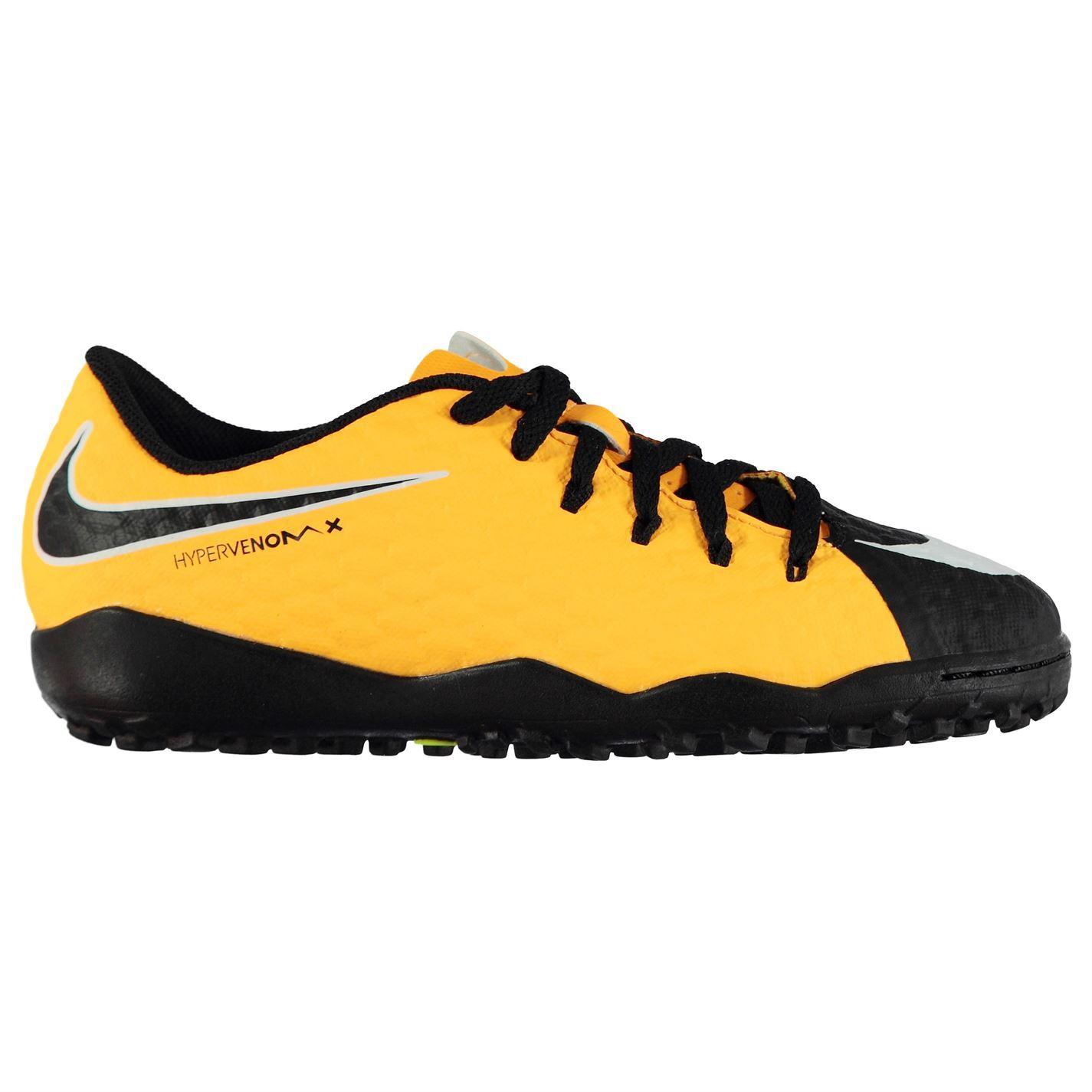 52e3c21858f9 ... Nike Hypervenom Phelon Astro Turf Football Trainers Juniors Orange  Soccer Shoes ...