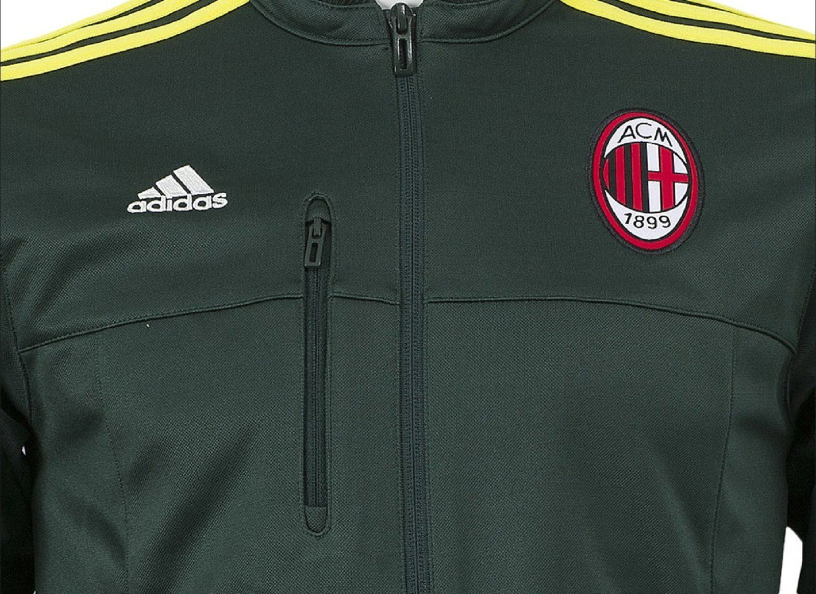 Details about adidas AC Milan Anthem Jacket GreenYellow Mens Football Soccer Tracksuit Top
