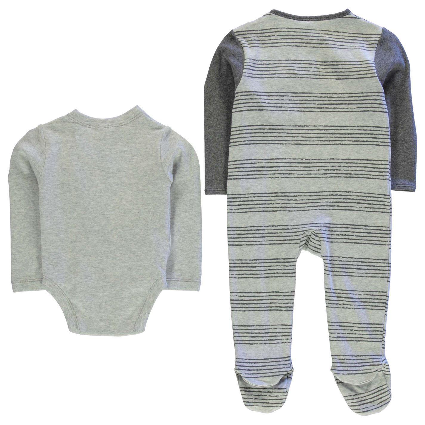 Tigger 4 Piece Romper Suit Set Infant Baby Grey Clothes Set