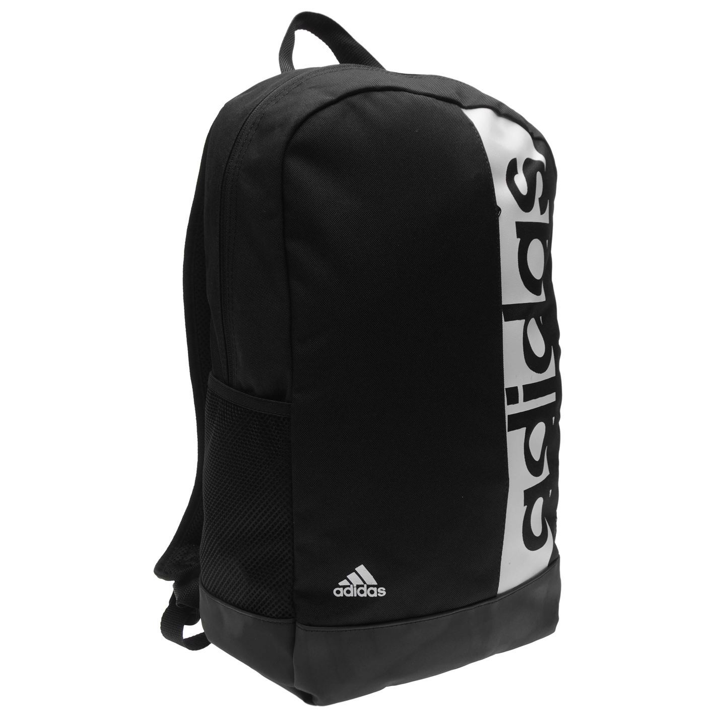 adidas Linear Backpack Black White Bag Holdall Gymbag Rucksack  a7949f27cd451