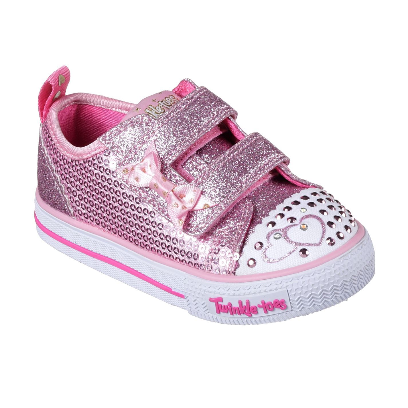 24702f7fde77 Skechers Twinkle Toes Itsy Bitsy Shoes Infant Girls Trainers ...