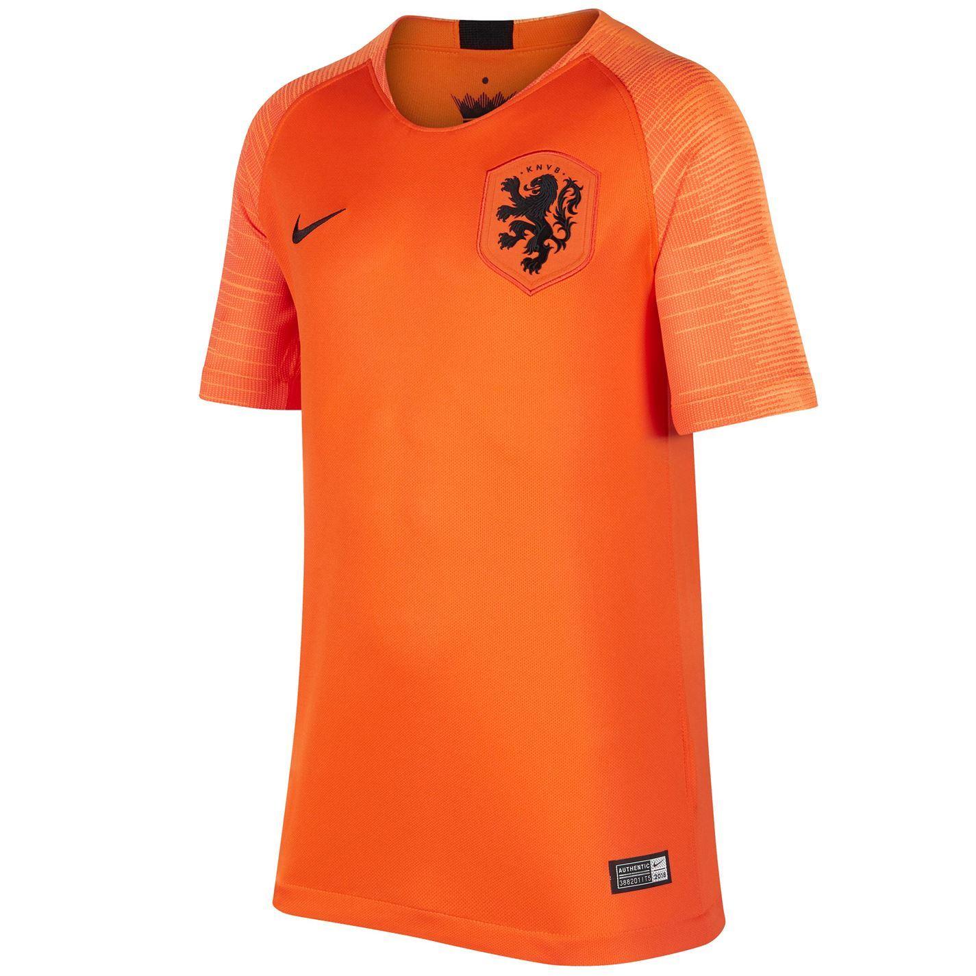 ... Nike Netherlands Home Jersey 2018 Holland Juniors Orange Football  Soccer Shirt ... 8c5a261a4a74