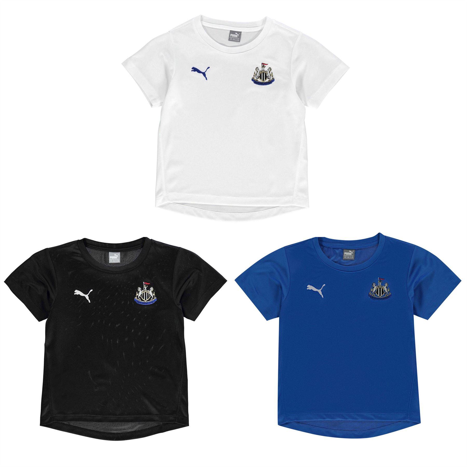 8f58097c51cc ... Puma Newcastle United Performance T-Shirt Juniors Football Soccer Top Tee  Shirt ...