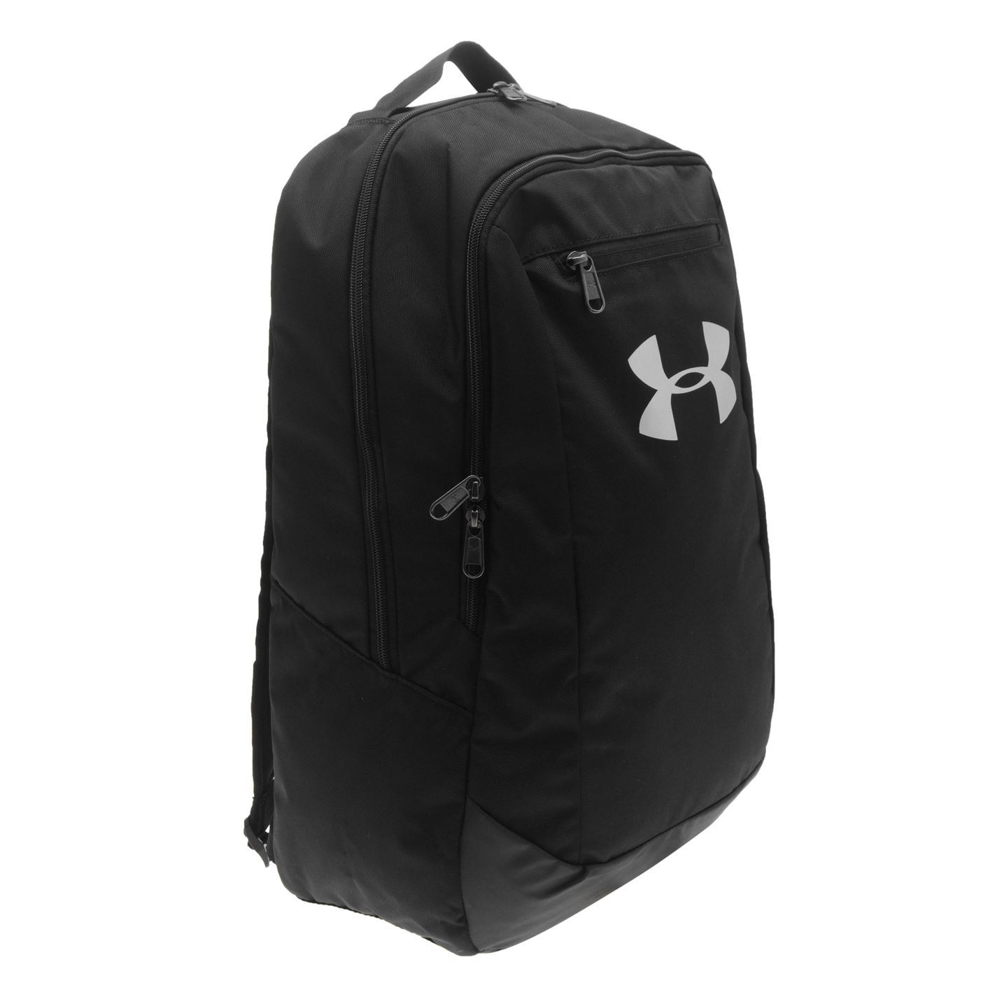 0d35e8cda9cb ... Under Armour Hustle Backpack Black Rucksack Sports Bag Gymbag Kitbag ...