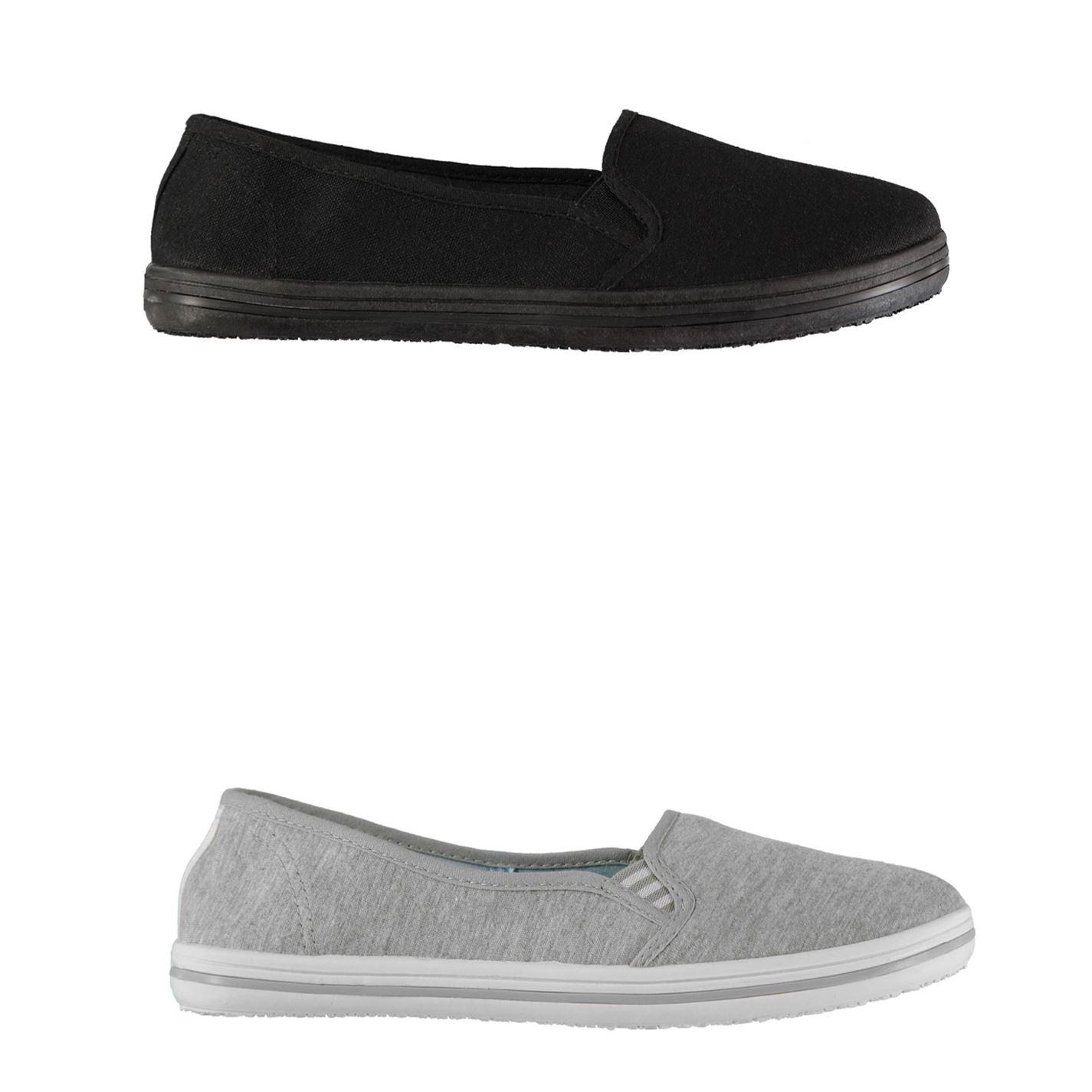 Slazenger Womens Canvas Slip On Shoes