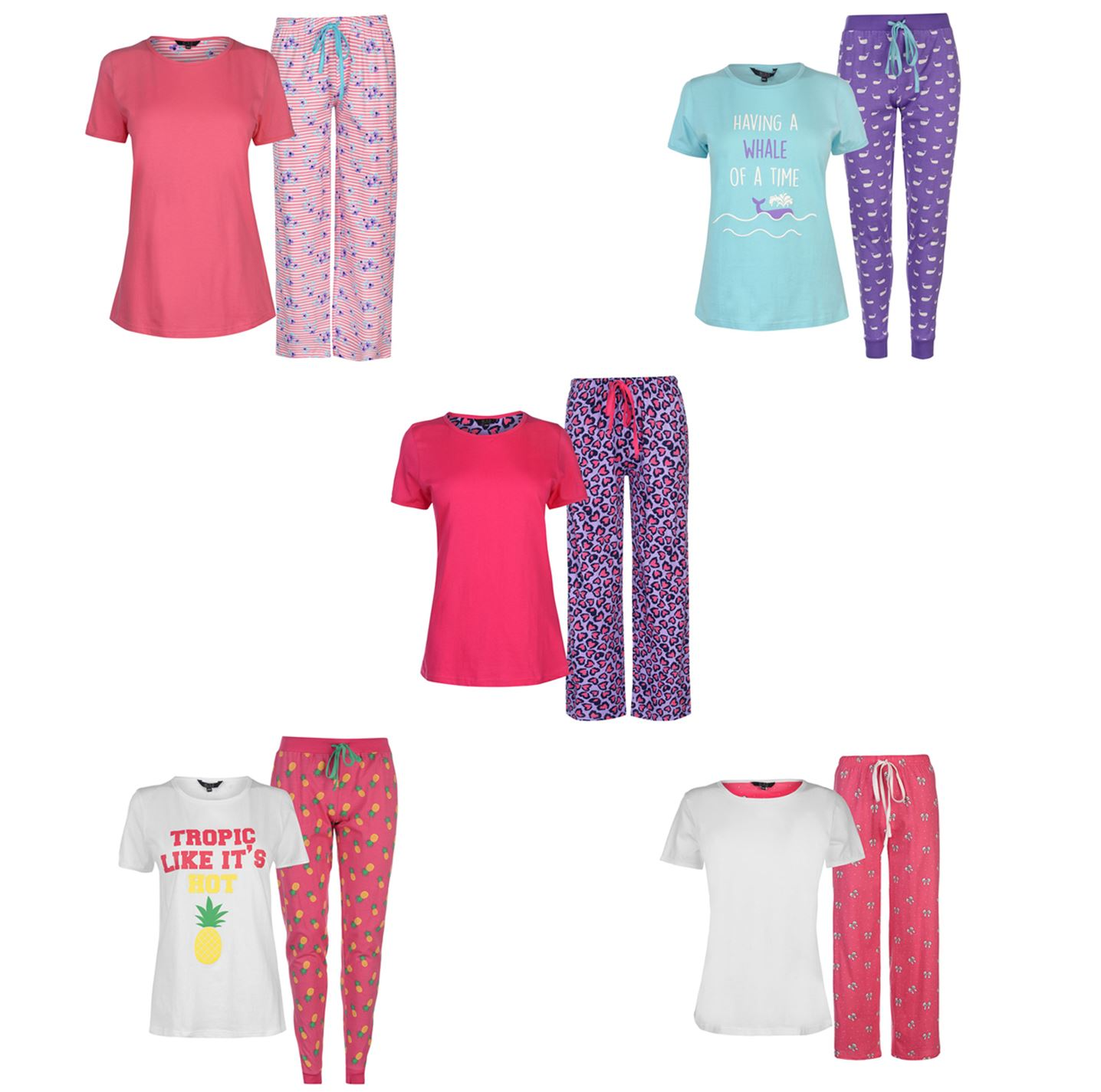 cfd9a1991ea6 ... Miso Table Pyjama Set Ladies Tops Pajamas Womens Sleepwear ...