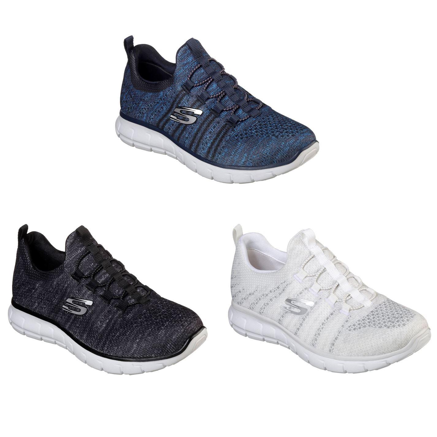 ... Skechers VIM Knit Shoes Ladies Womens Footwear ... 11e51a650e