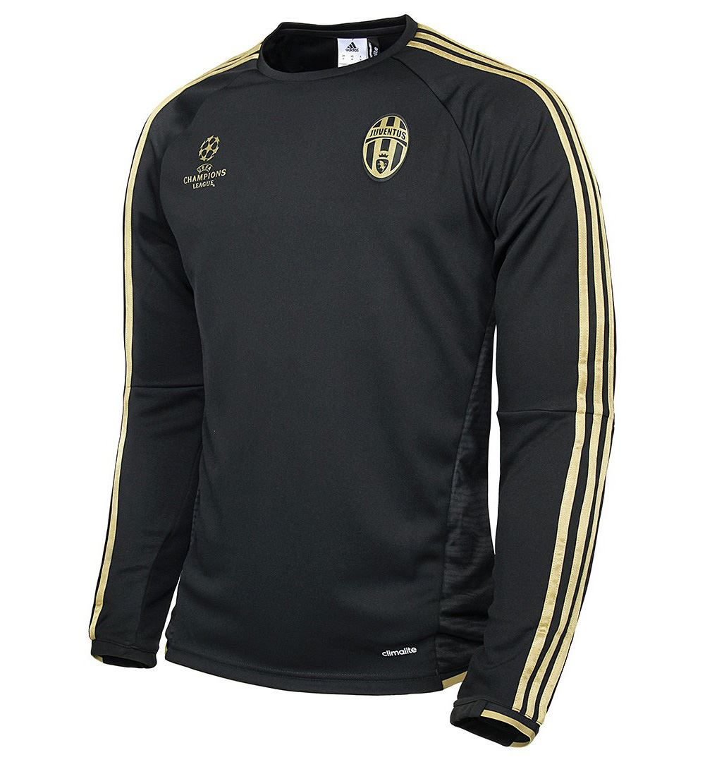 0f1c7b4c4 ... adidas Juventus Champions League Training Top Mens Black Gold Football  Soccer ...