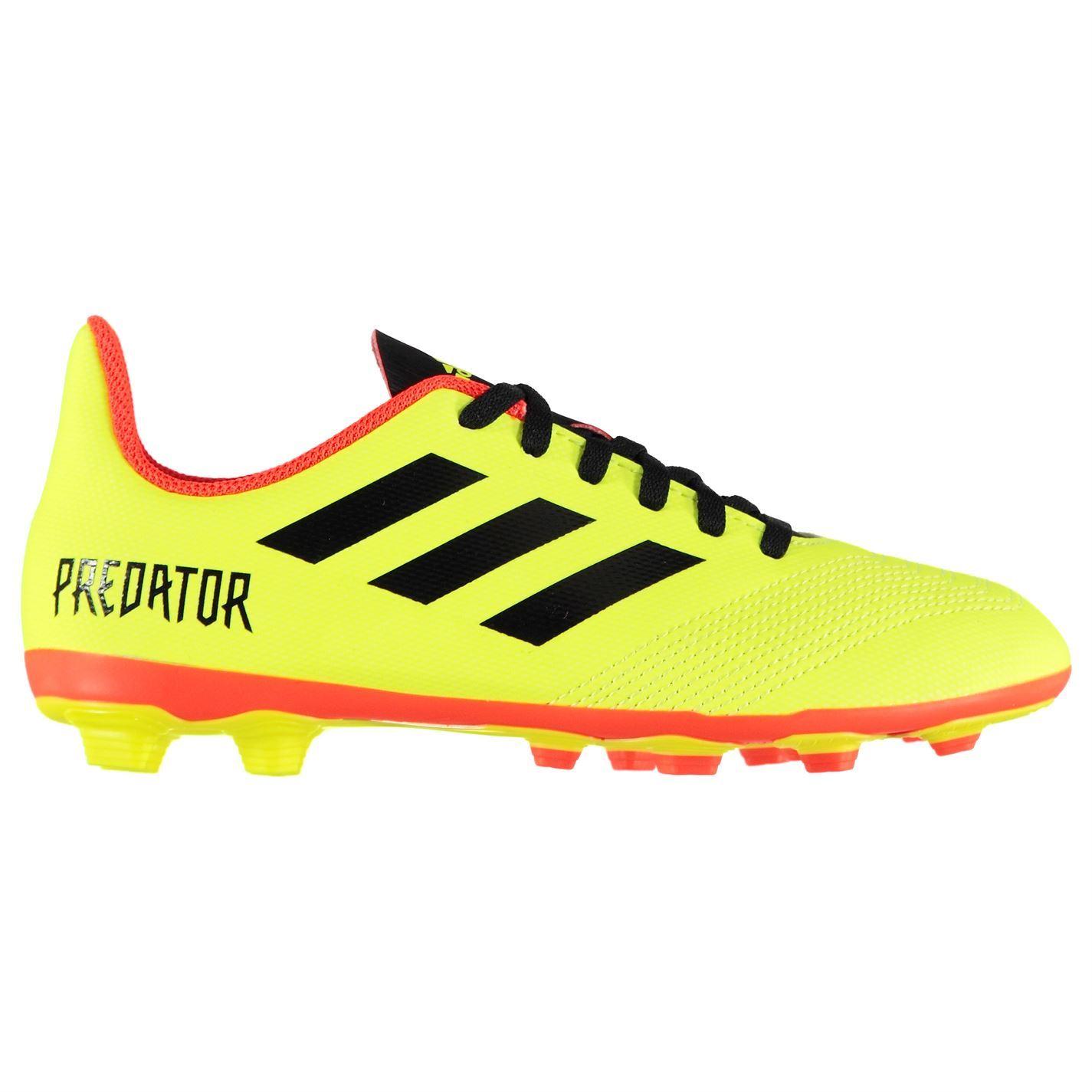 6c56c0c5e02f ... adidas Predator 18.4 Firm Ground Football Boots Juniors Yellow Soccer  Cleats ...