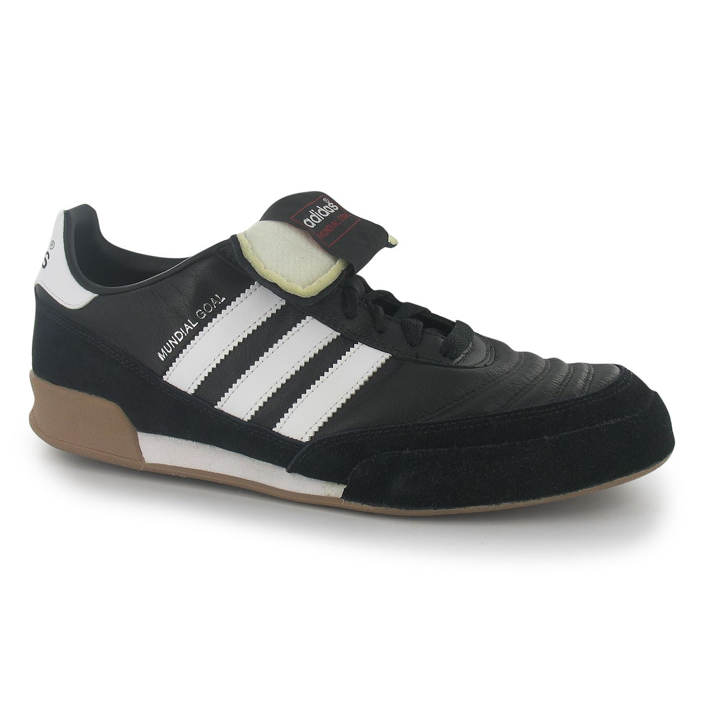Détails sur Adidas Mundial Goal Indoor football futsal Baskets Homme BlkWht Football Baskets afficher le titre d'origine