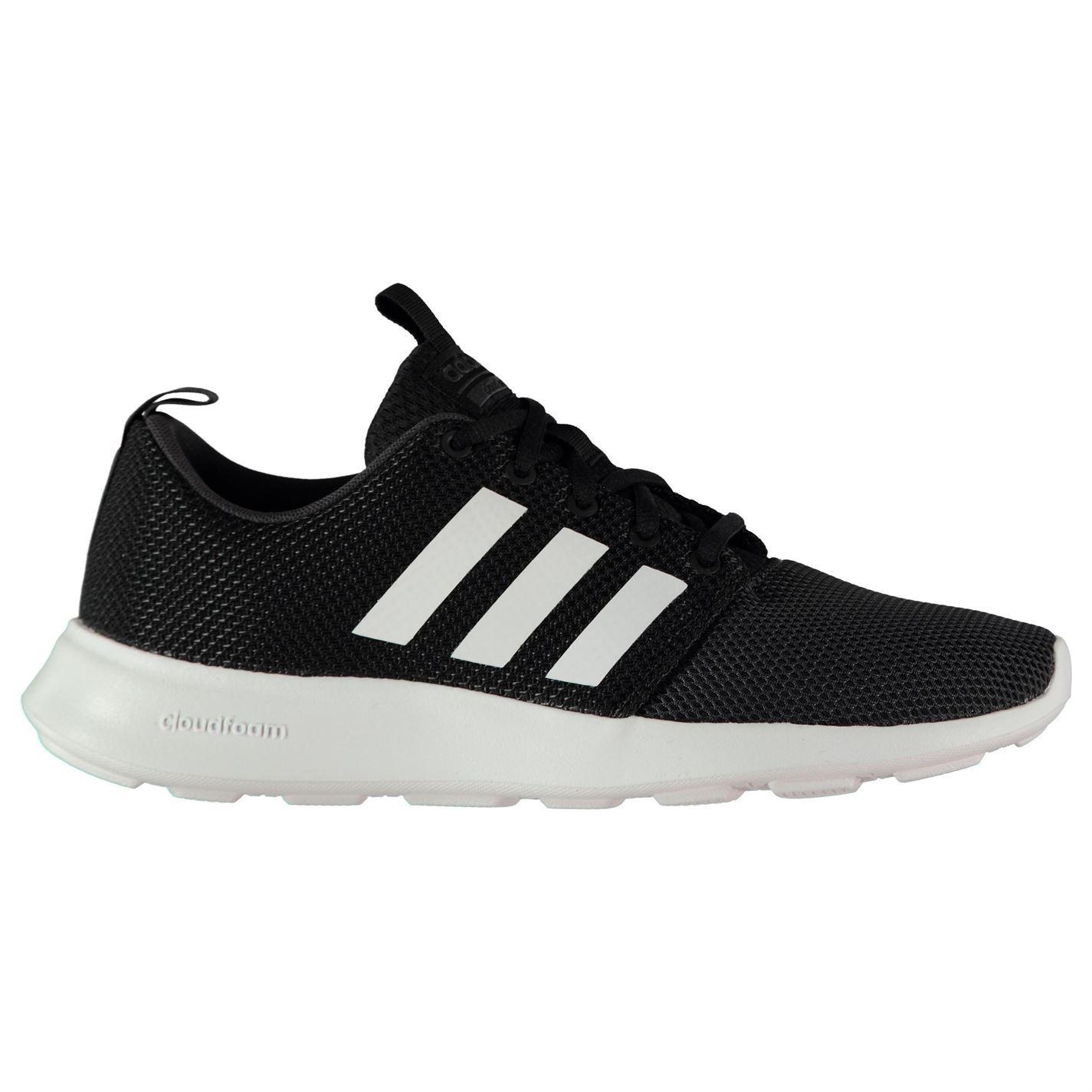 Adidas cloudfoam swift formatori Uomo nero / bianco le scarpe sportive