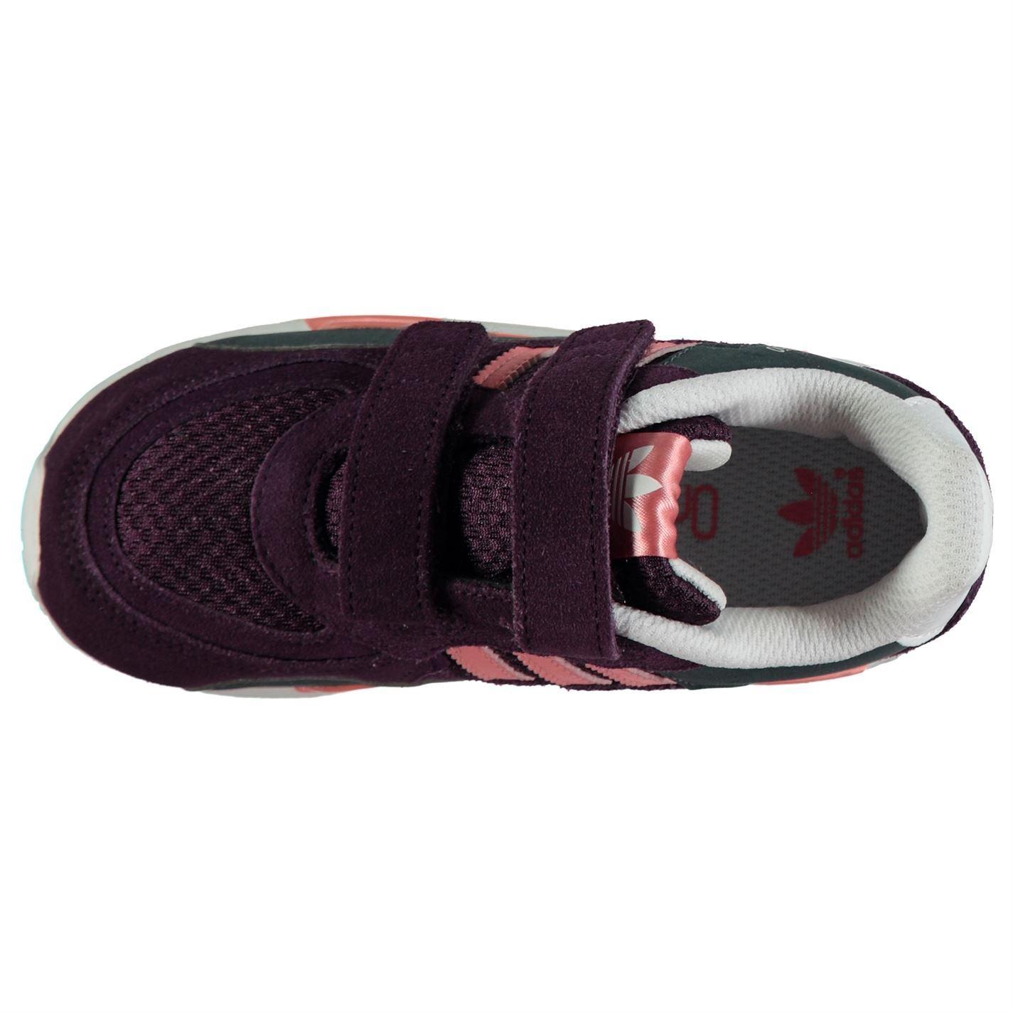 Détails sur Adidas Zx 850 Cf Baskets Filles Violet Pêche Chaussures Chaussures