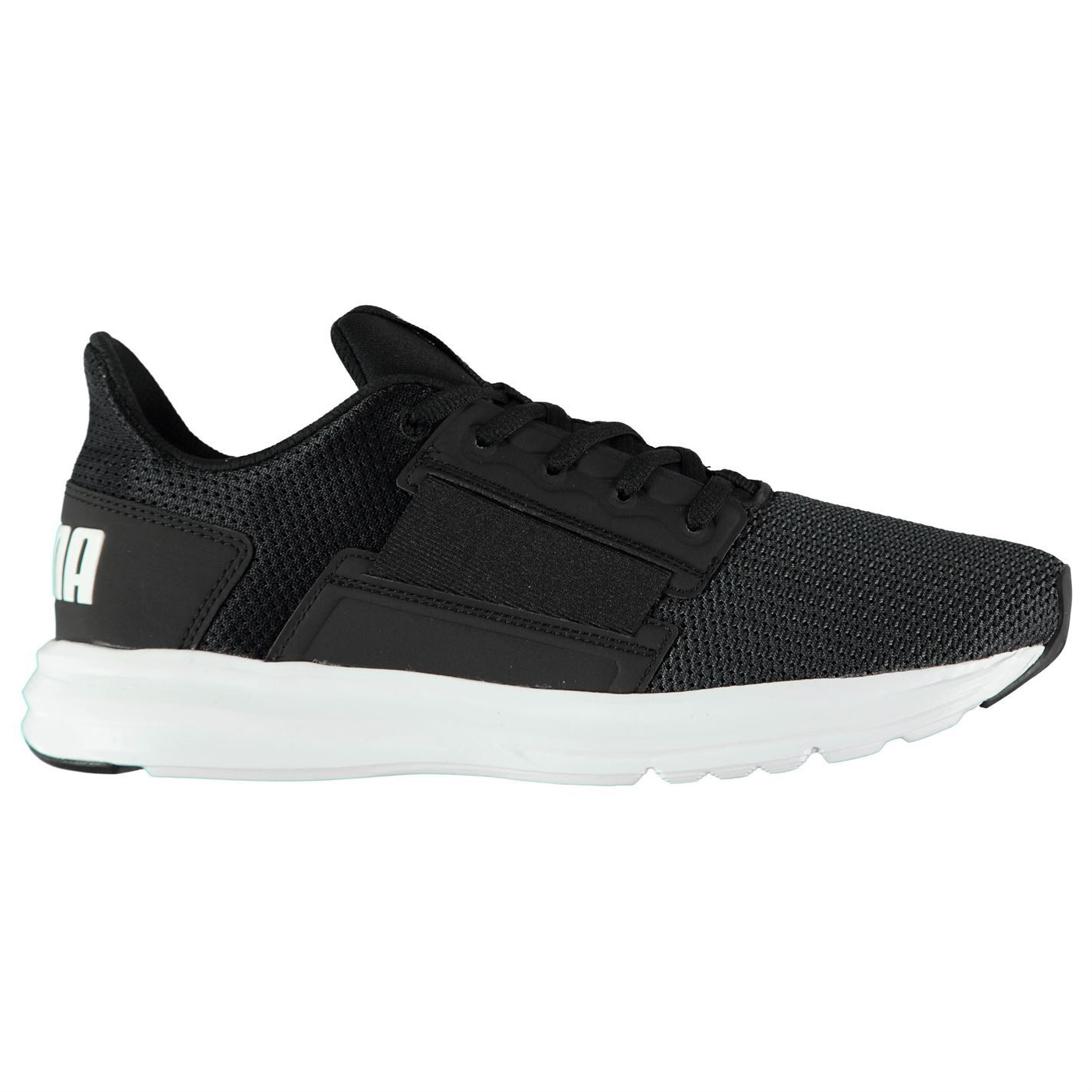 9d1d9dae876 Puma Enzo Street Trainers Mens Black White Athletic Sneakers Shoes ...