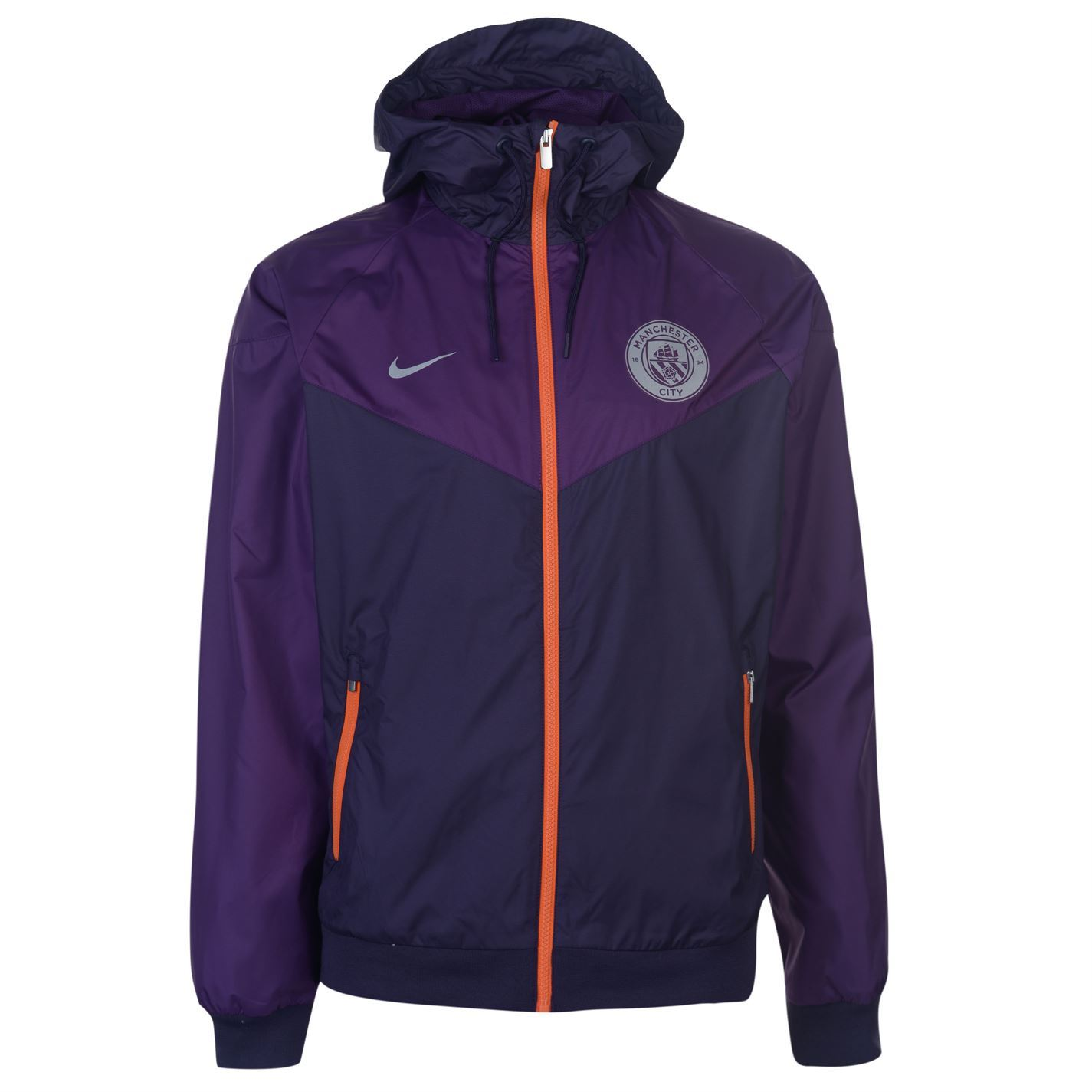 f77cb4322 Nike Manchester City Wind Runner Jacket Mens Purple Football Soccer Track  Top