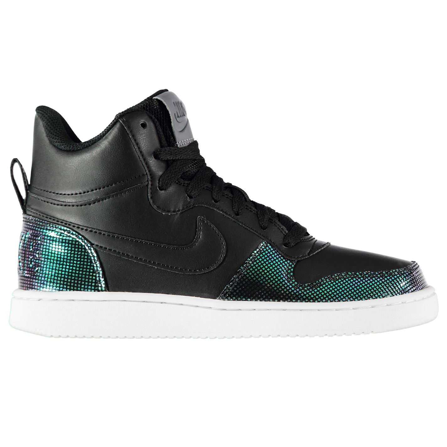 a50858e26902be ... Nike Court Borough Mid SE Trainers Womens Black Sports Trainers Sneakers  ...