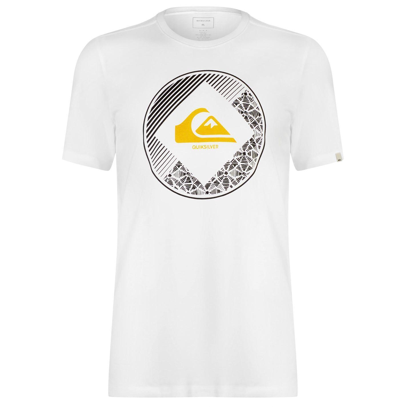 Quiksilver-Diamond-Logo-T-Shirt-Mens-Top-Tee-Shirt-White-Small thumbnail 8