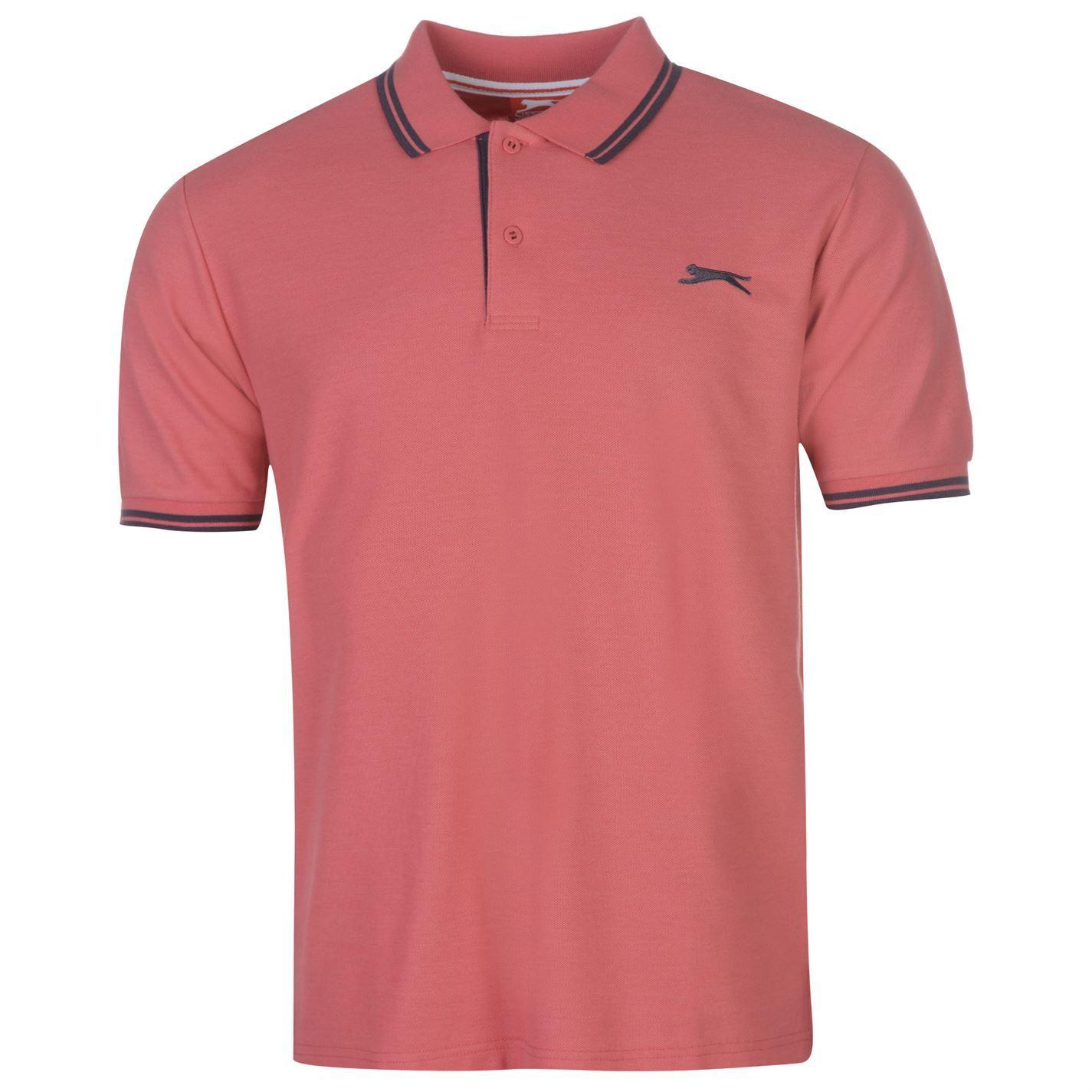 Slazenger-Polo-Camisa-de-hombre-con-cuello-con-Punta-T-Shirt-Top-Camiseta-Tee miniatura 100