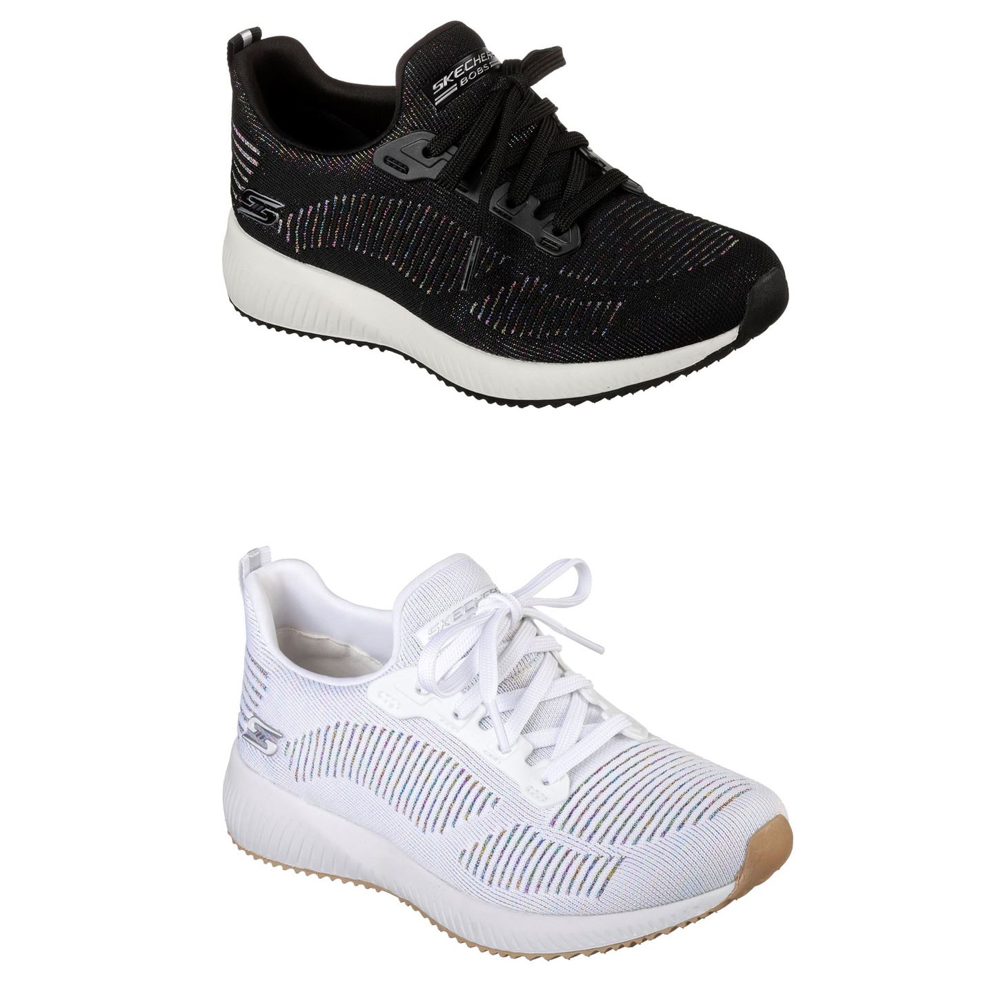 d8fea85c4d991 ... Skechers Bobs Sport Squad Metallic Trainers Ladies Shoes Womens  Footwear ...