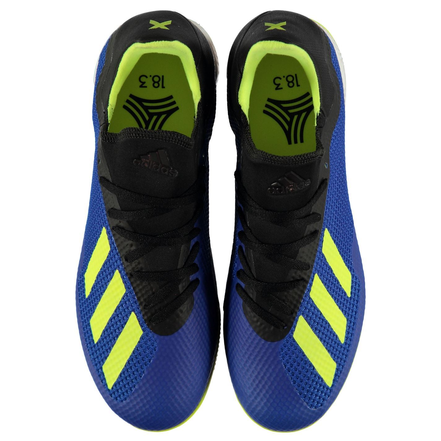 ... adidas X Tango 18.3 Indoor Football Trainers Mens Blue Yellow Black Soccer  Shoes 9663ac296cf