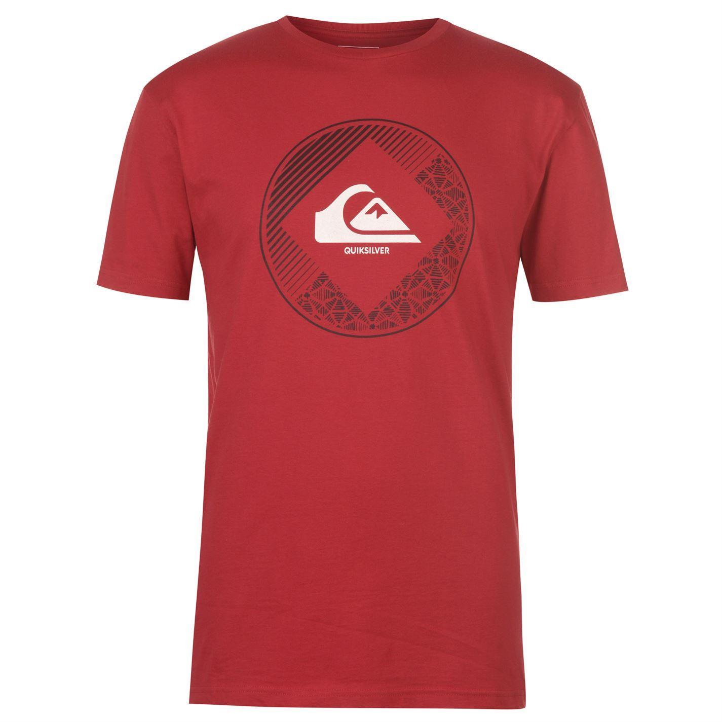 Quiksilver-Diamond-Logo-T-Shirt-Mens-Top-Tee-Shirt-White-Small thumbnail 4