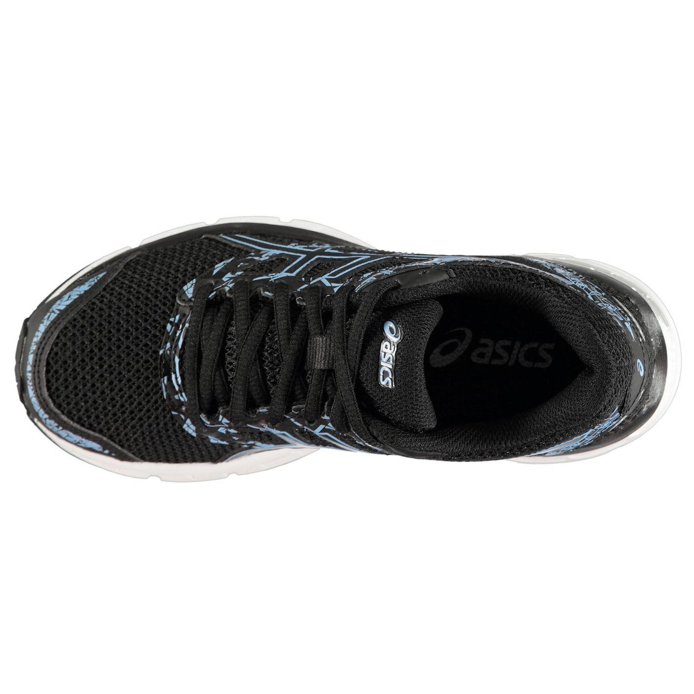 Detalles de Asics Gel Excite 4 Zapatillas Running Mujer Negro/Azul  Deportivas