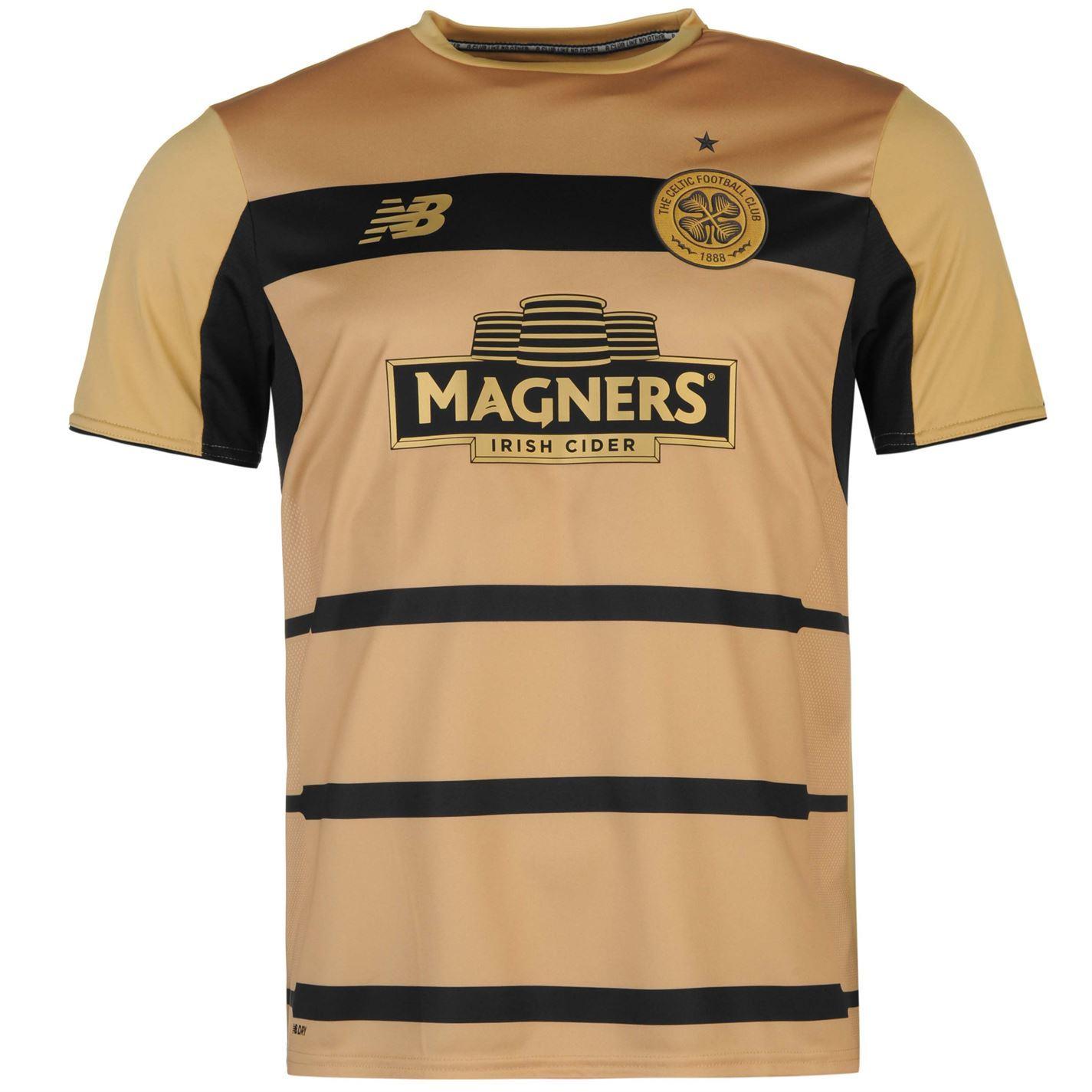 31730aff9 ... New Balance Celtic FC Pre Match Jersey Mens Gold Football Soccer Shirt  Top ...