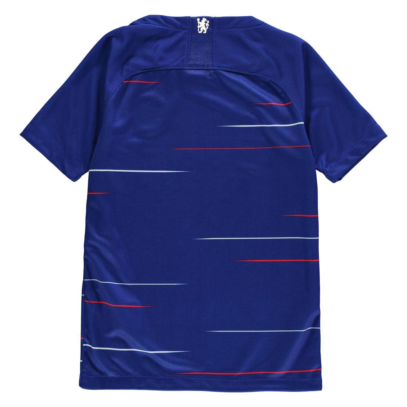 4eb1ced2d Nike Chelsea Home Jersey 2018 2019 Juniors Blue Football Soccer Fan Shirt  Top