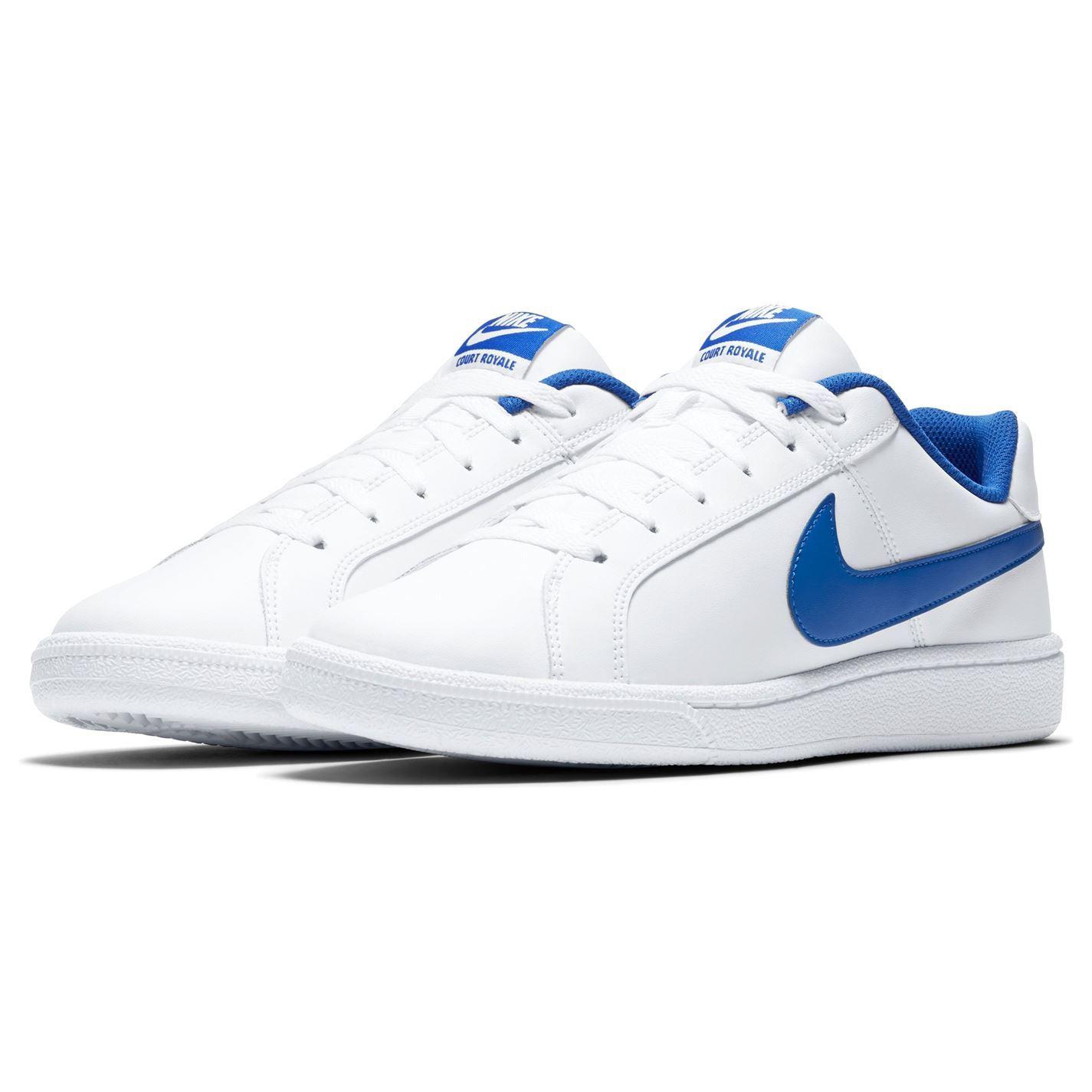 Detalles de Nike Tribunal Royal Zapatillas de Hombre BlancoAzul Informal Calzado Zapatillas