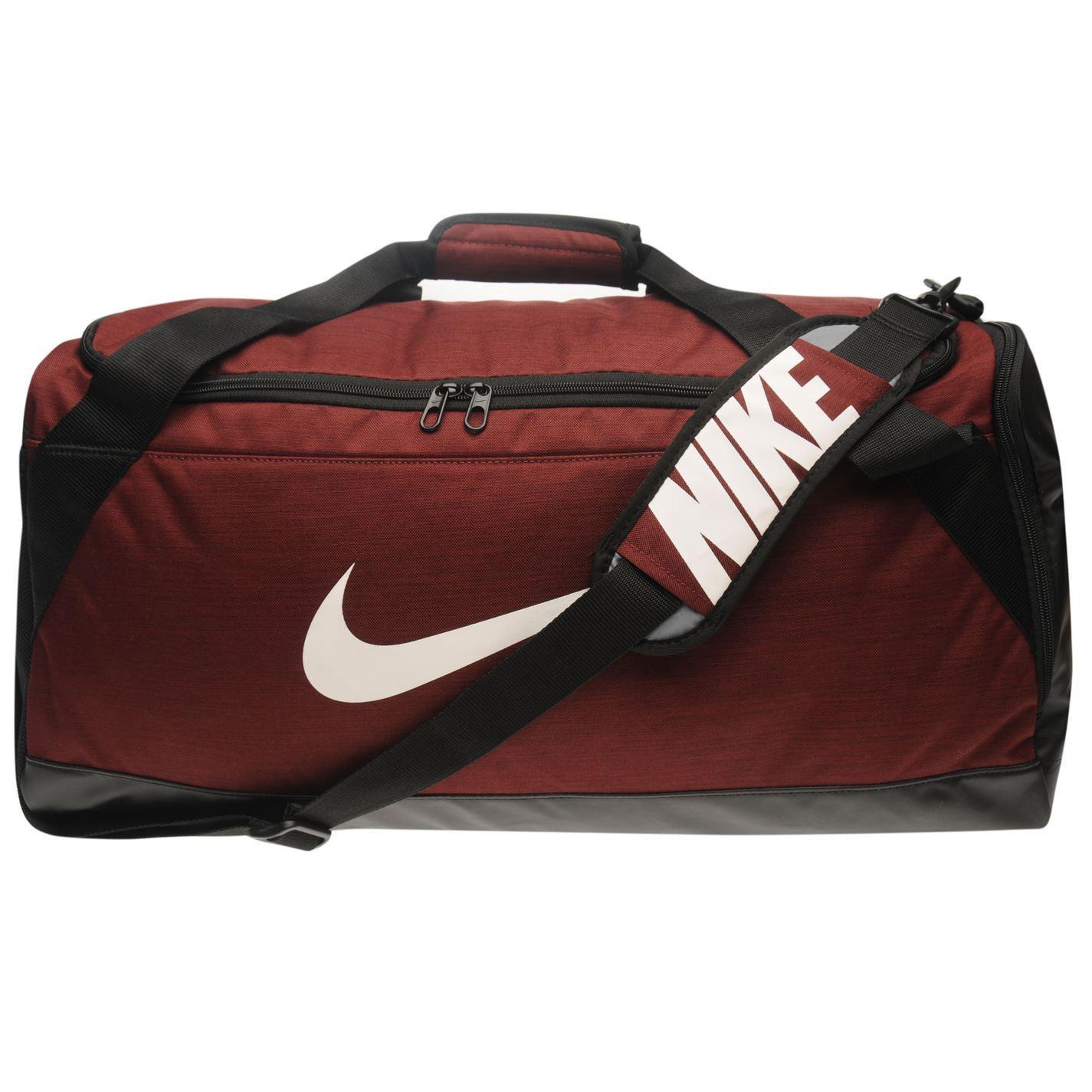 cb20e1152fb ... Nike Brasilia Medium Holdall Burgundy Sports Kit Bag Gymbag Carryall ...
