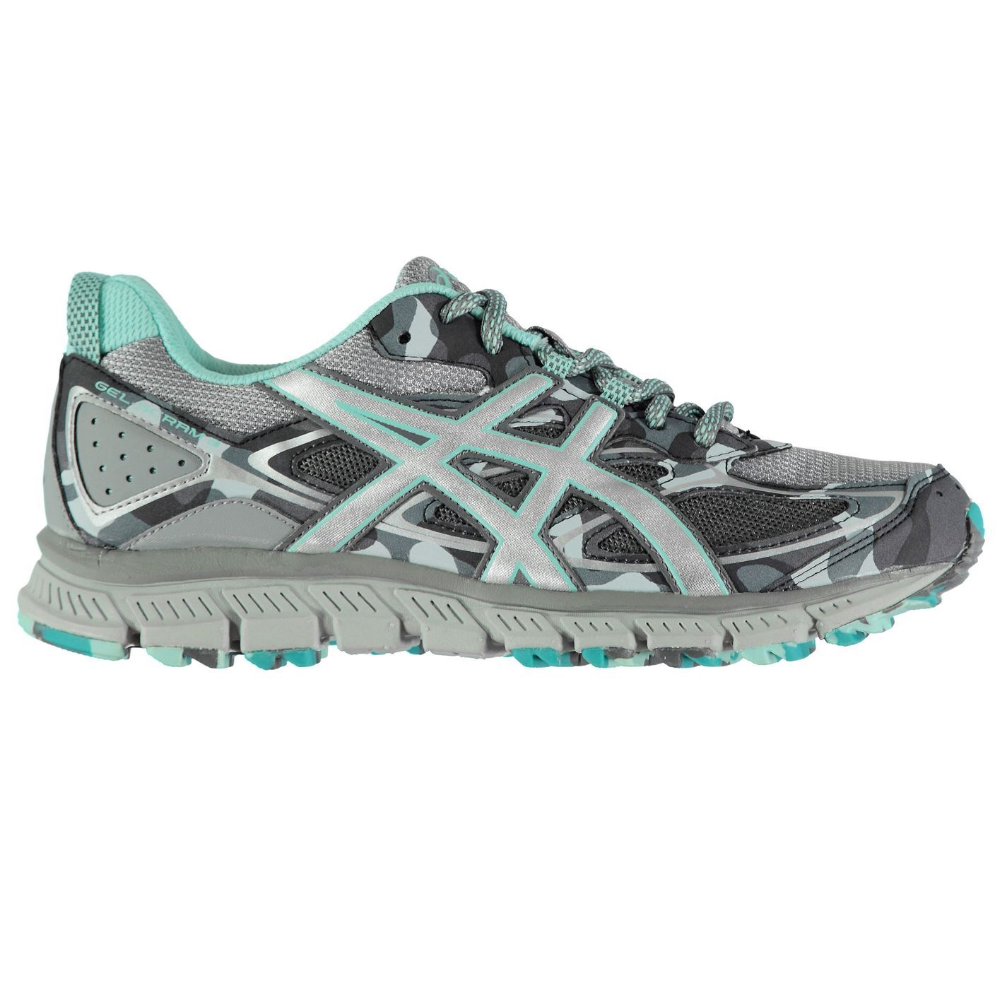 new york 3df98 e5a2c Details about Asics Gel Scram 3 Running Shoes Womens Grey/Blue Run Jogging  Trainers Sneakers
