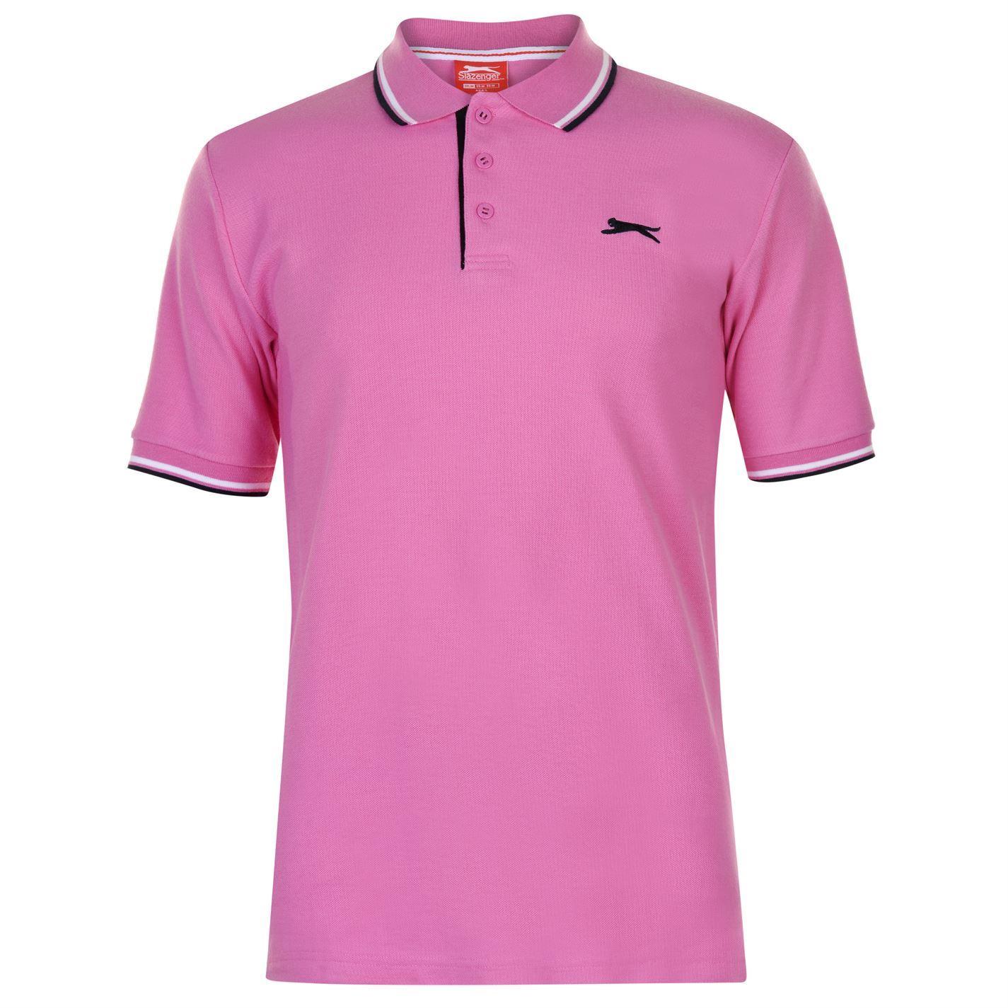 Slazenger-Polo-Camisa-de-hombre-con-cuello-con-Punta-T-Shirt-Top-Camiseta-Tee miniatura 18