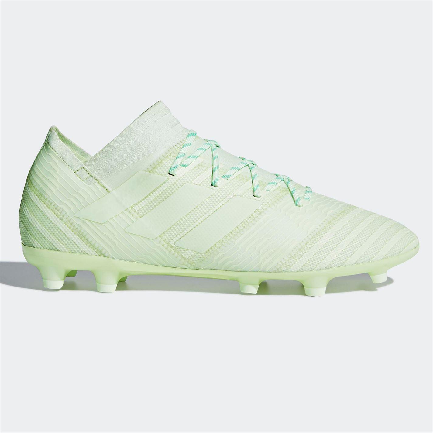 1aa8b562a9d2 adidas Nemeziz 17.2 FG Firm Ground Football Boots Mens Green Soccer Shoes  Cleats