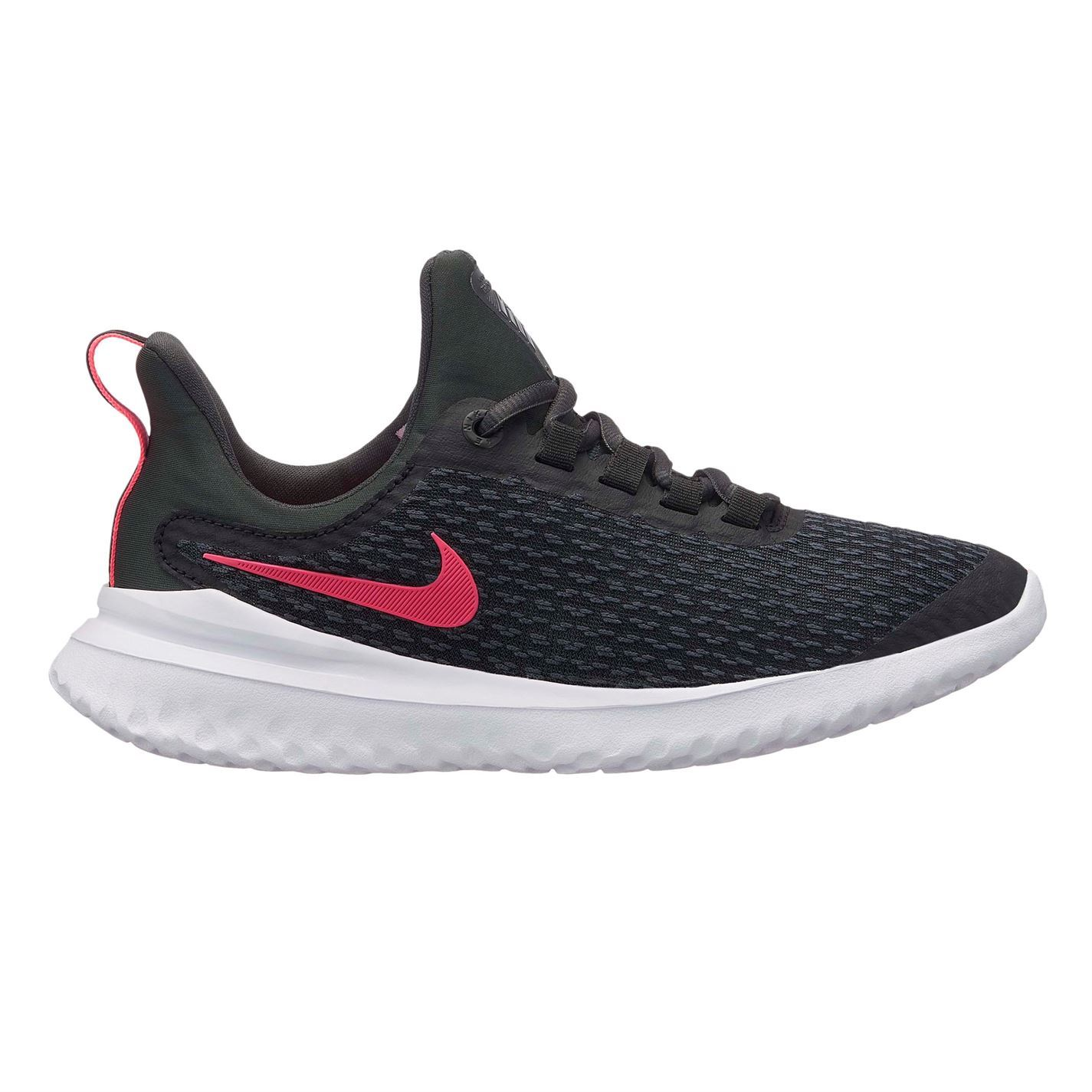 sale retailer fb927 d493d Details about Nike Renew Rival Trainers Junior Girls Black/Pink Shoes  Footwear